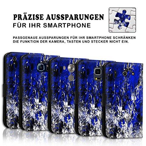 Wallet Book Style Flip Handy Tasche Case Schutz Hülle Schale Motiv Etui für Apple iPhone 6 Plus / 6S Plus - Design Flip MVD44
