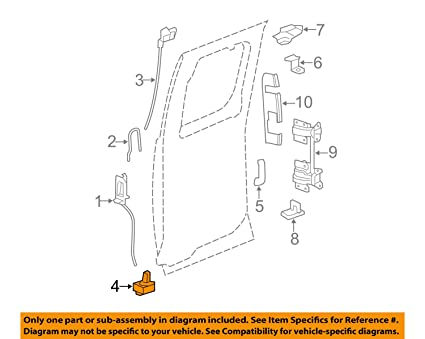amazon com genuine gm 20995801 door latch, rear automotiveGm Door Diagram #9
