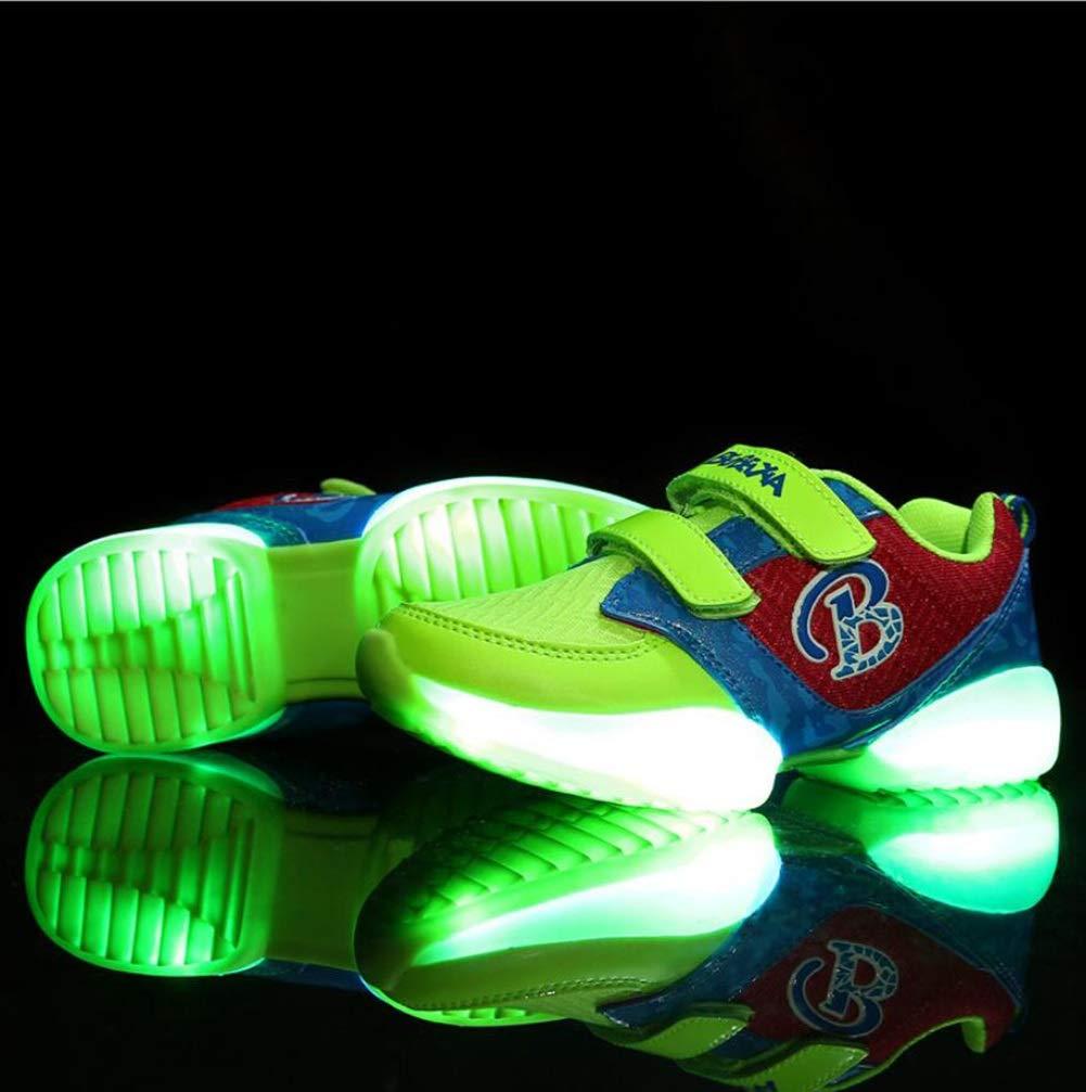 MhC LED Leuchten Schuhe, Jungen und Mädchen Schuhe Casual Tüll Fashion Turnschuhe Schwarz/Grün / Rot