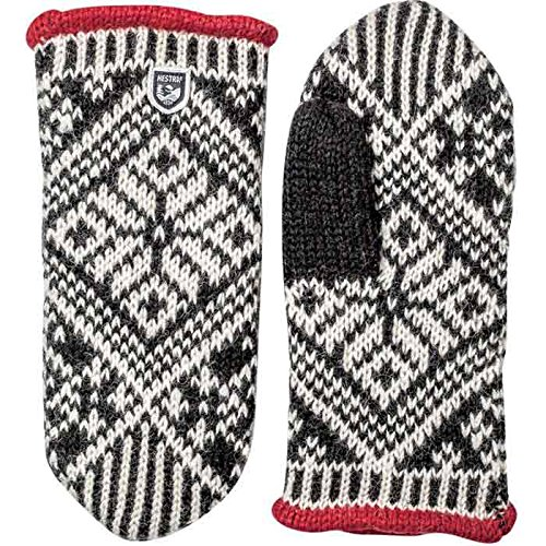 Hestra Nordic Wool Mitt - Women's Black / Off White 9