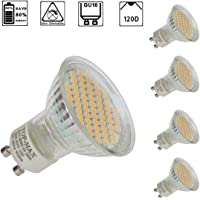 Henweit 4X 6W 60smd GU10 LED BULBS Warm