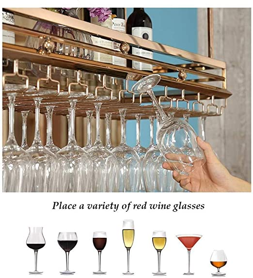 FCXBQ Winerack Wine Rack Soporte para Copa de Vino montado en la ...