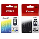 Canon Combo of PG-810XL And CL-811XL Ink Cartridge (PG-810XL Black:CL-811XL Color)