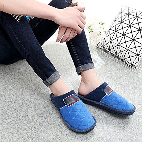 Millya Winter Slip On Cotton Indoor Slippers Thicken Plush Lined Mules For Men Teenager Boys vHoJLpF