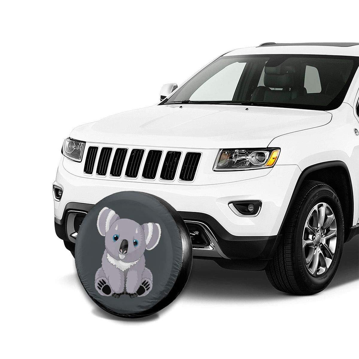 Xhayo Cute Australia Koala Bear Wheel Cover Wheelcover Spare Tyre Tire for SUV,RV,Trailer,Truck Wheel Fits Entire Wheel