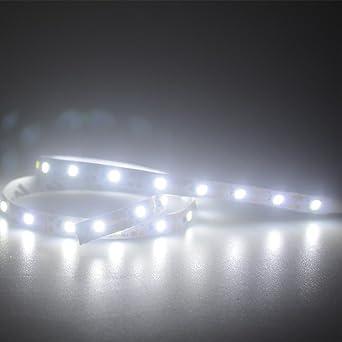 5M LED STRIP LEISTE STREIFEN 3528 SMD BAND LICHTER LICHT LICHTERKETTE KALTWEIß