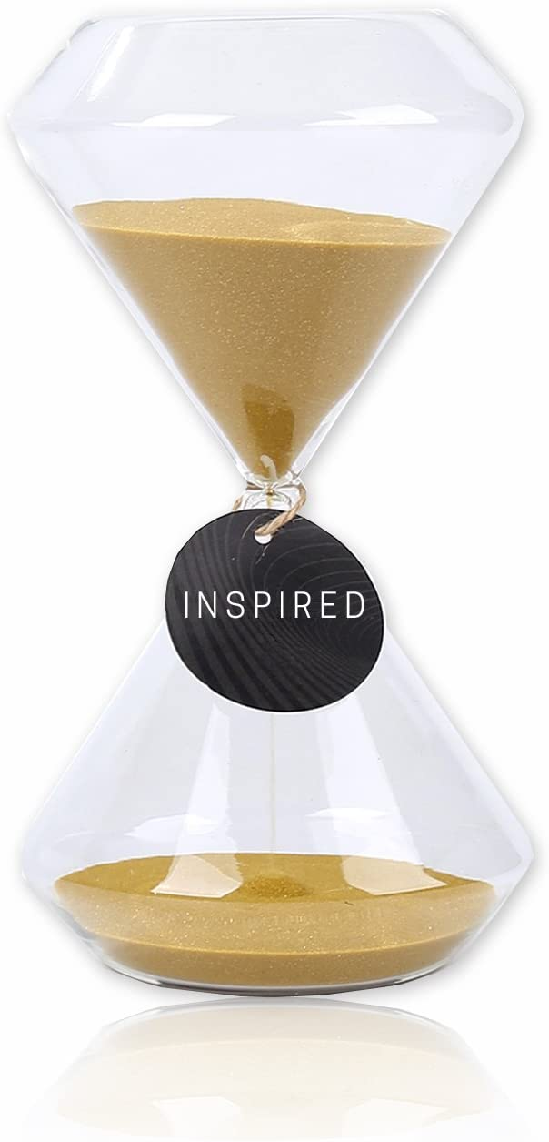 Hourglass Timer Glasss Sand Timer Home,Desk,Office Decor,30 Minutes,15 Minutes Sand Timer,Gold,Copper Hourglass Sand Timer