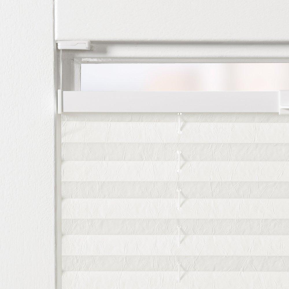 Original Easy-Shadow Plissee verspannt Faltstore in der Farbe beige Breite 51 cm x Höhe 140 cm 51x140 cm Montage im Rahmen in der Glasleiste Maßanfertigung
