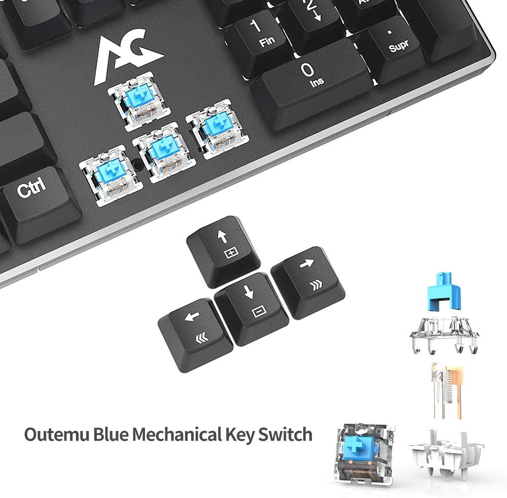 Teclado Mecánico Gaming ACGAM AG-109R 105 Teclas y Switches ...