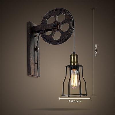 MMYNL Moderne Appliques Murales Rétro Appliques Murales Vintage Lampe Pour  Chambre Salon Bar Couloir Salle De Bains Cuisine Escalier Intérieur Lampes  Loft ...