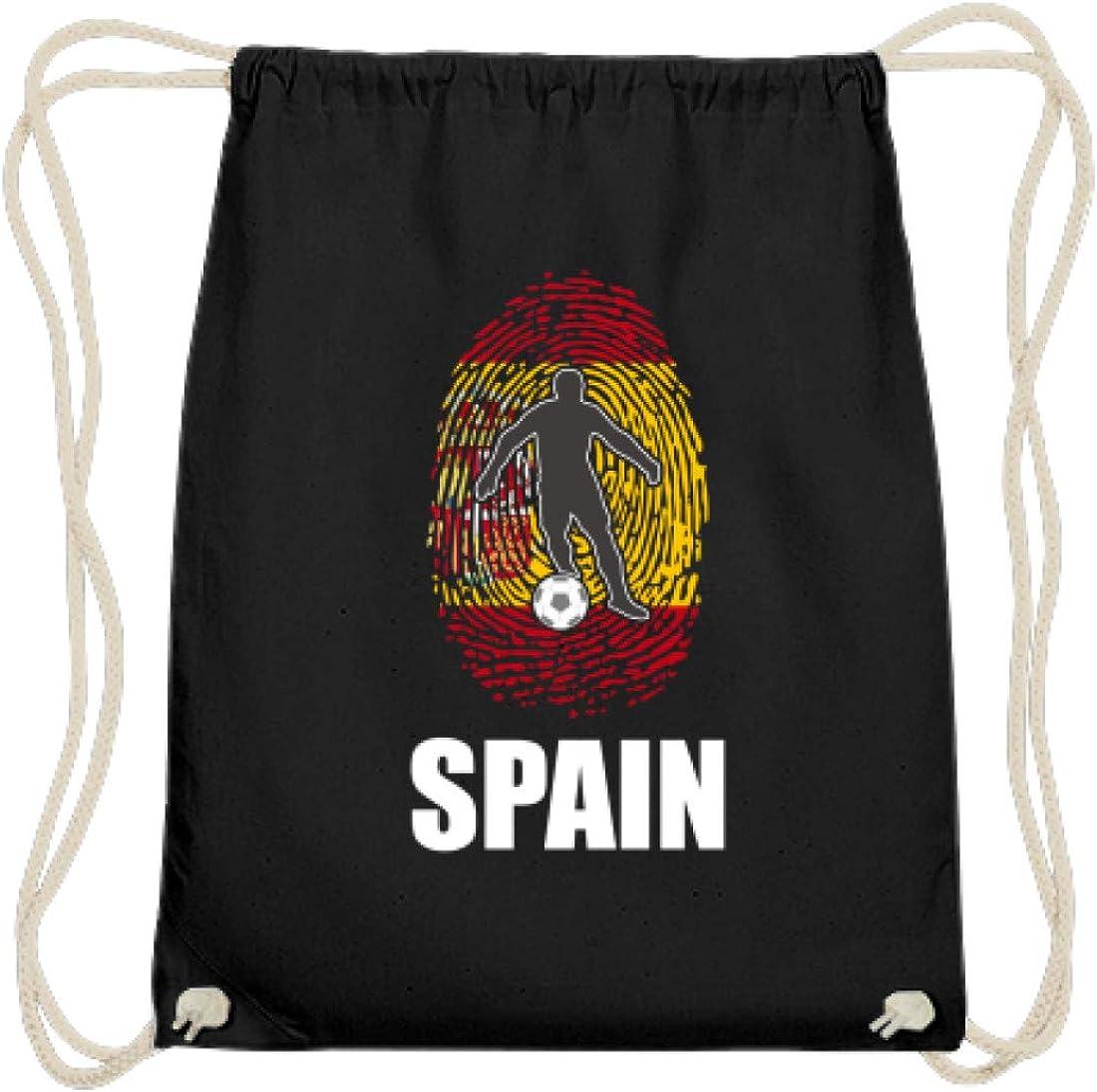 Camiseta del mundial de España de Rusia 2018, para fans españoles, fútbol, huellas dactilares, diseño nacional – algodón Gymsac, color Negro, talla 37cm-46cm: Amazon.es: Ropa y accesorios