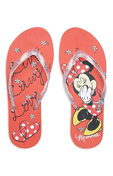 0afb9facec4e Primark Ladies Girls Womens Disney Minnie Mouse Flip Flops Toe Summer  Thongs Beach Sandals UK S-L
