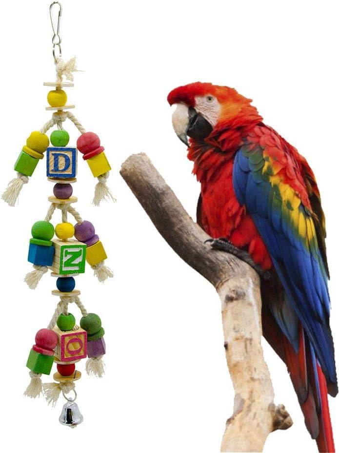Pet Online Accesorios para jaulas de pájaros Loros Grandes y medianos Suministros Escalera Escalada Barra de pie