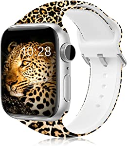 IKANFI Bands Compatible for Apple Watch 38mm 42mm 40mm 44mm, Skin-Friendly Softer Silicone Replacement Sport Strap Compatible with iWatch Series 4 Series 3 Series 2 Series 1, Sports & Edition