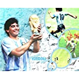 Diego Maradona Poster by Silk Printing # Size about (75cm x 60cm, 30inch x 24inch) # Unique Gift # F71618
