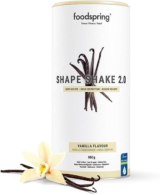 foodspring Shape Shake 2.0, Vainilla, 900 g, Sustitutivo de ...