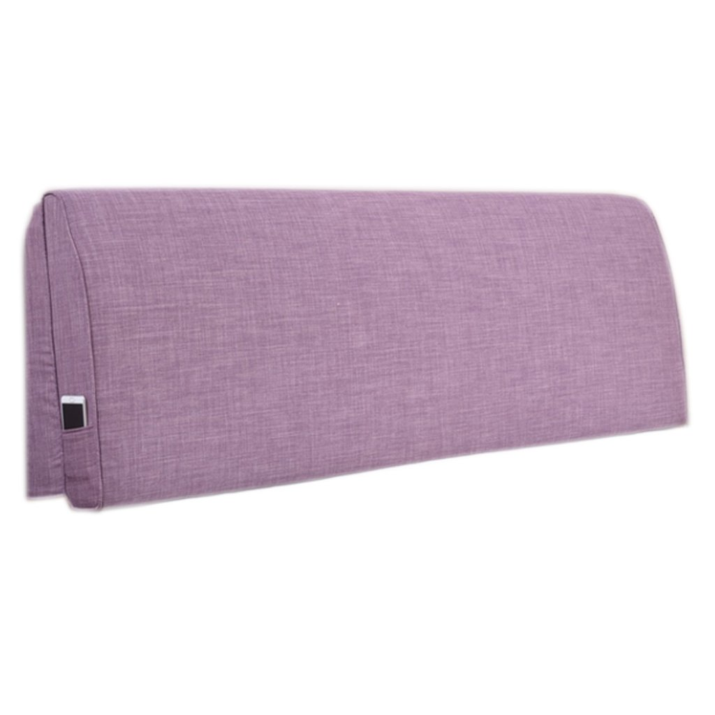 LQQGXL,Cushion, Continental minimalist bedside cushions large backrest solid wood bed soft bag bedspread double detachable washable back cushion ( Color : B , Size : 160cm10cm55cm )