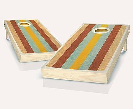 Peachy Amazon Com Retro East Coast Stained Custom Cornhole Boards Theyellowbook Wood Chair Design Ideas Theyellowbookinfo