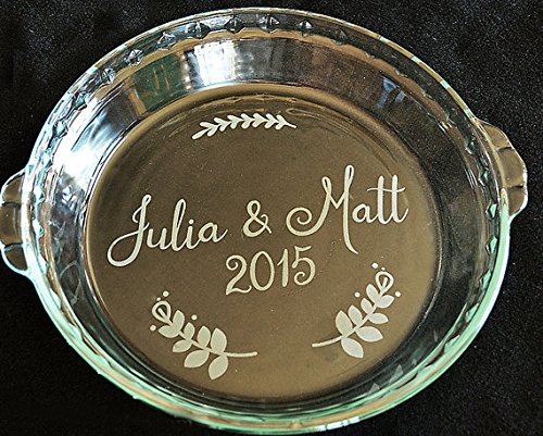 Custom Wedding Gift - Pie Plate Engraved with Your Names