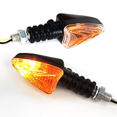 Bompa 2pcs LED Turn Signal Lights Motorcycle Indicators Blinker Amber Light Universal 12V for Harley Honda Yamaha Suzuki (Turn Signal Lights E): Automotive [5Bkhe0411644]