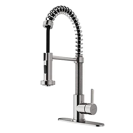 Cupc Commercial Stainless Steel Kitchen Faucet With Pull Down