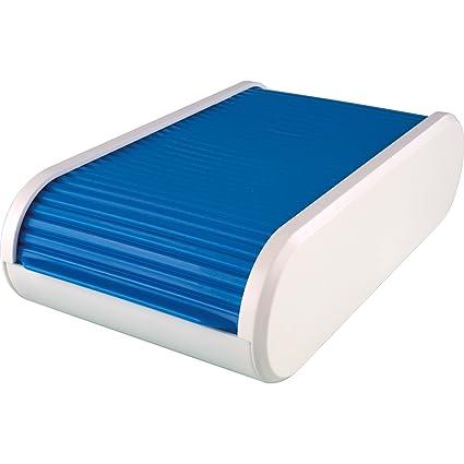 Helit H6218030 Visitenkartenbox The Personal Blau Transluzent Weiß