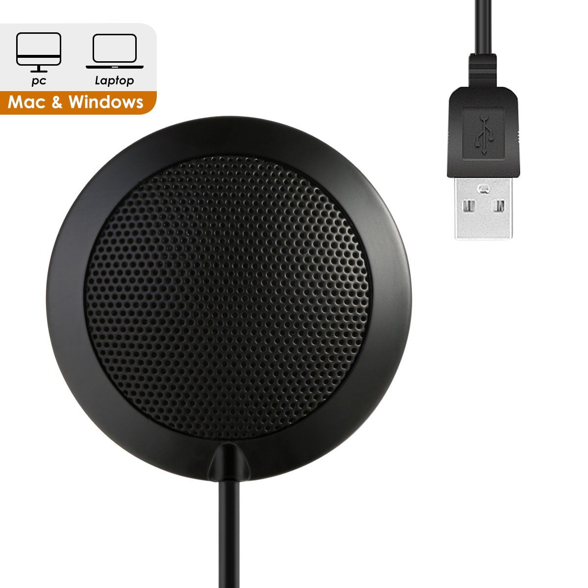 USB Microphone for Computer,SOONHUA PC Laptop Condenser Omnidirectional Mic Desktop Conference Microphone for Recording, Video Meeting, Gaming, Skype Chatting, VoIP Calls with 360°10' Pickup Range by SOONHUA
