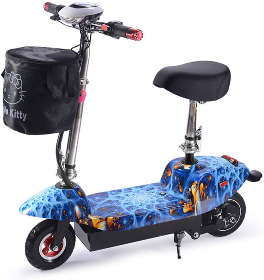 Joyfitness Artefacto Scooter eléctrico 24V Plegable para Adultos batería portátil Mini Ultra-Light Conducción Generación Generación,Oceanblue