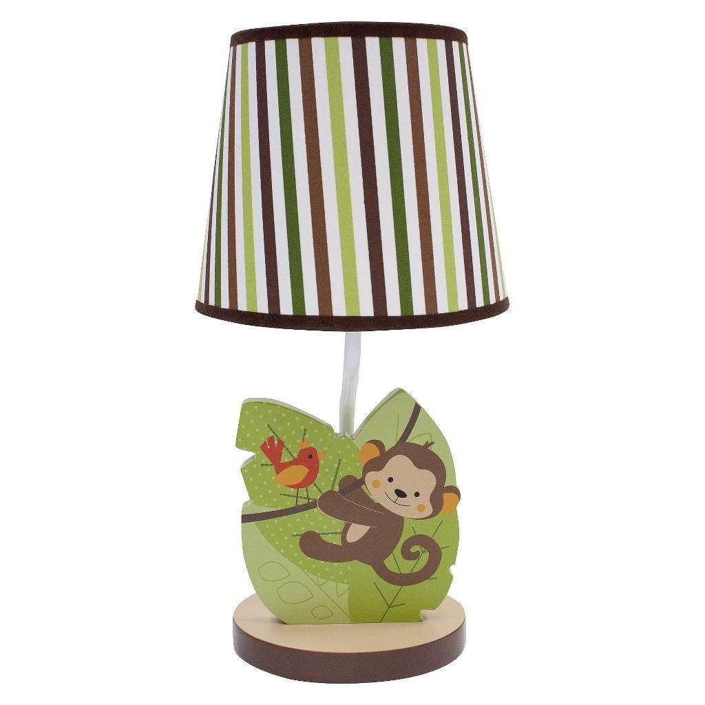 Bedtime Originals Jungle Buddies Lamp, Brown/Yellow 218024B