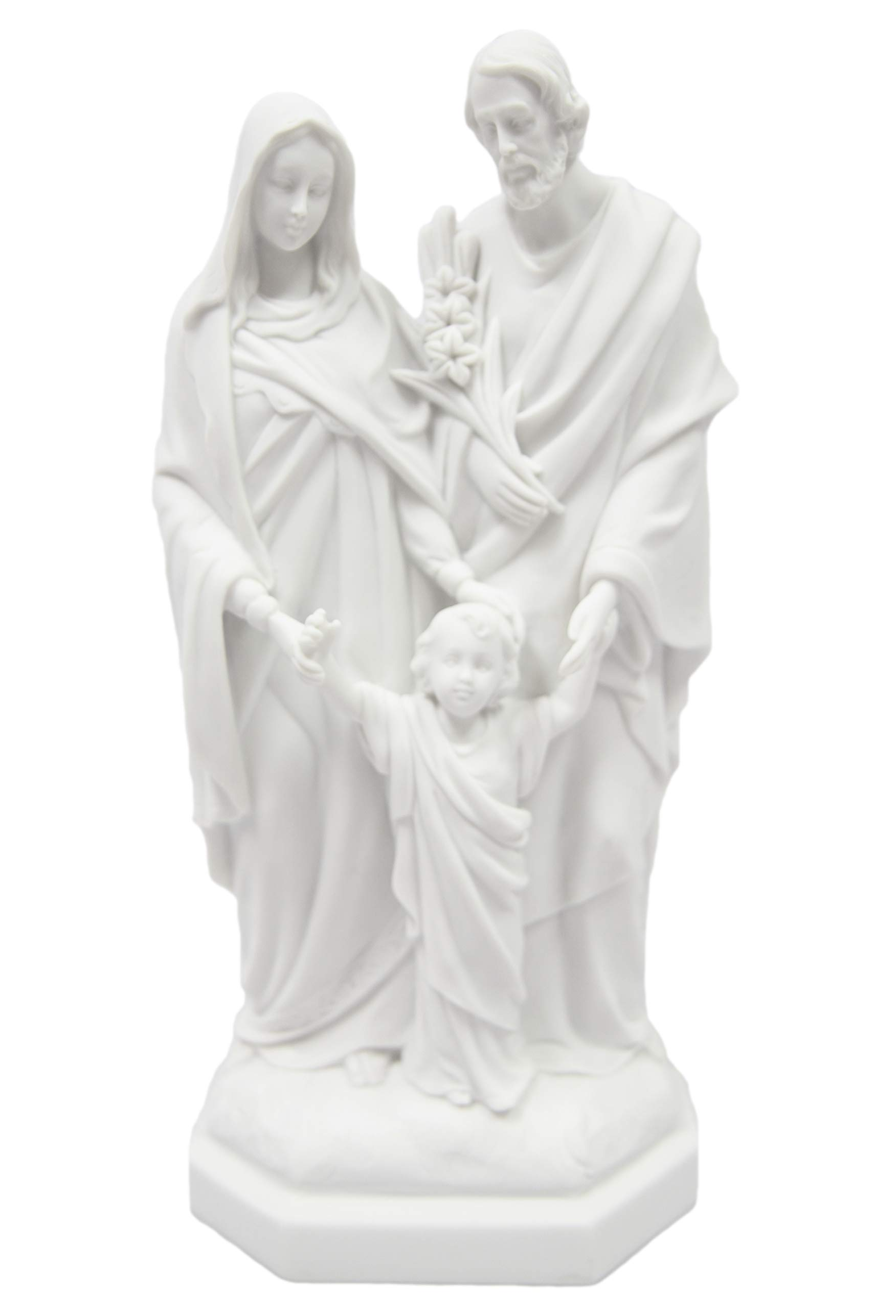 """12"""" Holy Family Joseph Mary Jesus Catholic Religious Statue Figure by Vittoria Collection Made in Italy"""