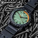 CampCo Smith & Wesson Grenadier Land Sea Rescue Watch - Stainless Steel Back, TPR Band, Water-Resistant, Japanese Quartz Movement