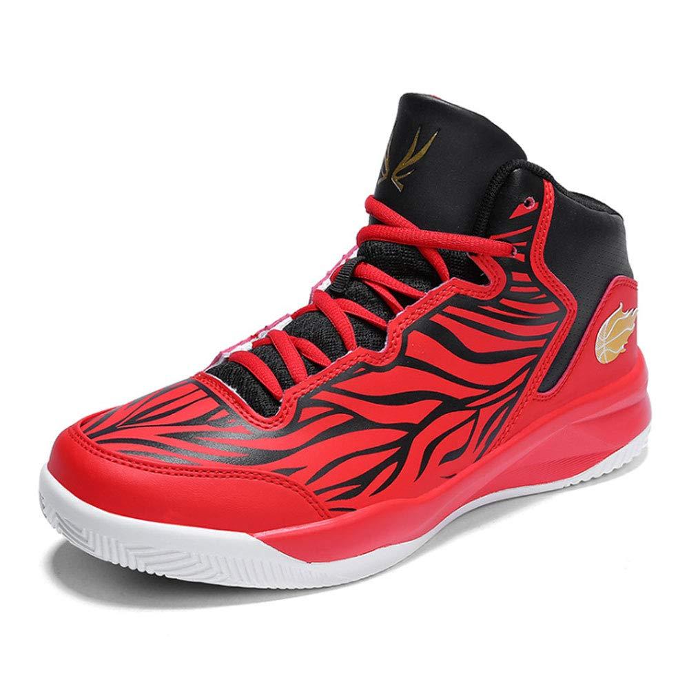 ASDFGH Basketballschuhe, Men Men Men es Turnschuhe Non-Slip Shock Absorption High-Top Turnschuhe Breathable Wear Training Stiefel,rot,43 6dd61c