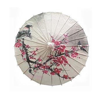 Paraguas chino hecho a mano no impermeable del papel de aceite, los 100cm