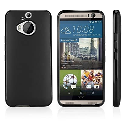 good 1ab4f ceb27 HTC One (M9) Plus Case, BoxWave [Blackout Case] Durable, Slim Fit, Black  TPU Cover for HTC One (M9) Plus