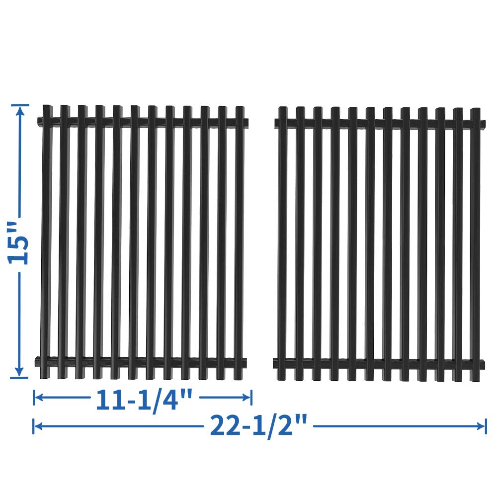 SHINESTAR 15 inch Cooking Grates Replacement for Weber Spirit 200 Grill Grates for Spirit E210/S210/S200/E200(with Side Control Knobs), 15'' Porcelain Steel Grate for Spirit 500, Genesis Silver A Parts by SHINESTAR (Image #1)