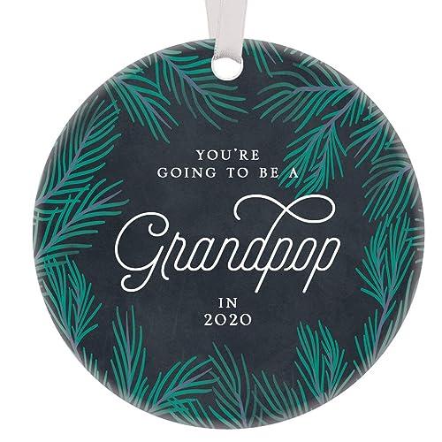 Amazon.com: New Grandpop Christmas Ornament Ceramic Keepsake ...