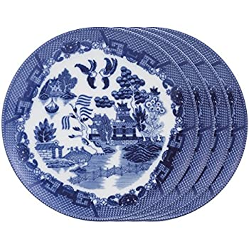 HIC Blue Willow Dinner Plates Fine White Porcelain Set of 4 10.5-Inches  sc 1 st  Amazon.com & Amazon.com | Churchill Blue Willow Plate 10"|350|350|?|en|2|8702e7f304a435660797c908c624ac92|False|UNLIKELY|0.3543878495693207