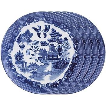 Willow Dinner Plates  sc 1 st  Amazon.com & Amazon.com | HIC Harold Import Co. Willow Dinner Plates: Hic Blue ...