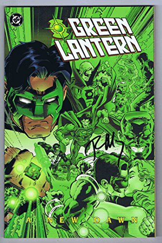 Print Autographed (Green Lantern A New Dawn TPB NM- Signed w/COA Ron Marz 1st Print 1997 DC)