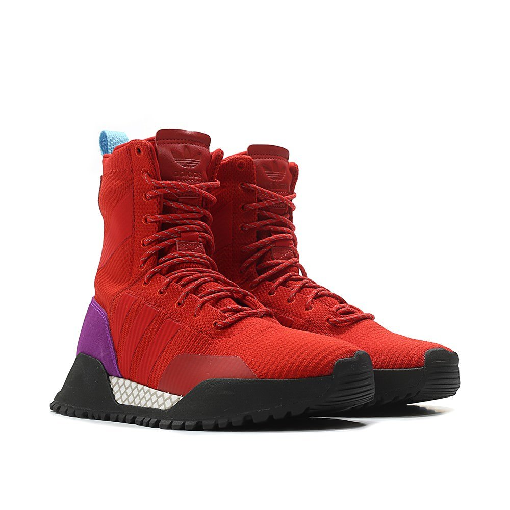 new concept 55cca dbff8 Amazon.com  adidas Mens Originals AF 1.3 PK Primeknit Boot REDPurple Black  Fashion Sneakers