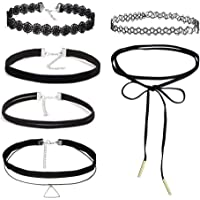 Choker Necklace, Charming Stretch Velvet Classic Gothic Tattoo Lace Choker