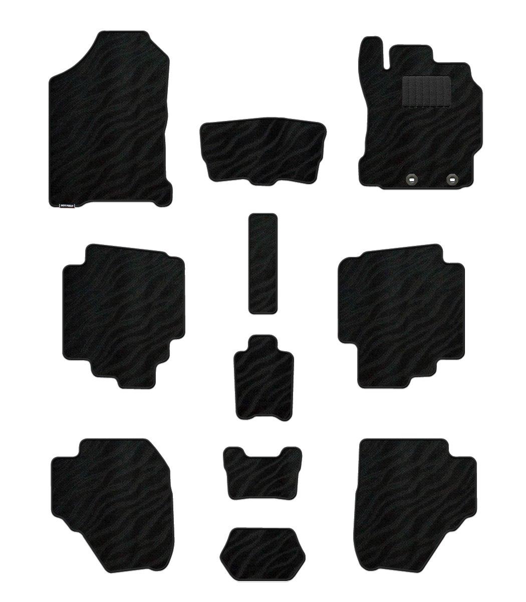 Hotfield トヨタ シエンタ フロアマット 新型 170G 175G ガソリン車/【4WD駆動】 WAVEブラック B012UOKSIW ガソリン車/【4WD駆動】|WAVEブラック WAVEブラック ガソリン車/【4WD駆動】