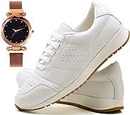 Tênis Sapato Casual Com Relógio Pulseira fechamento magnético Feminino JUILLI 1102DB
