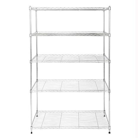 Amazon.com: Standing Shelf Units 5 Layers Kitchen Shelves Microwave ...
