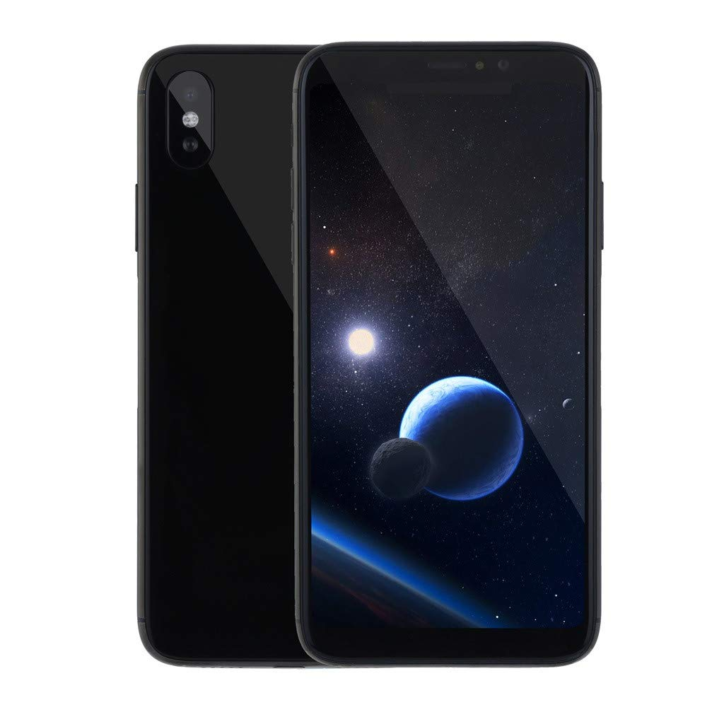 Unlocked Smartphone, 5.8 Inch 18:9 IPS Arc Edge Capacitive Screen Face ID Beauty Camera Cell Phone Quad-Core 1GB+8GB Android 5.1 Dual SIM 3G Mobile Phone (Black, Android Phone) by Dacawin_Smart Phones (Image #2)