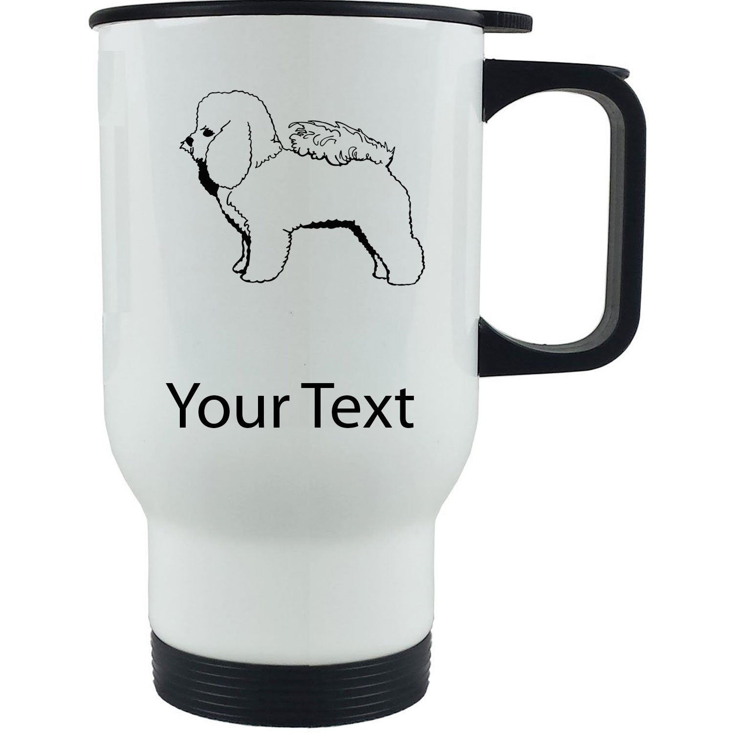 Customized Bichon Frise Travel Mug