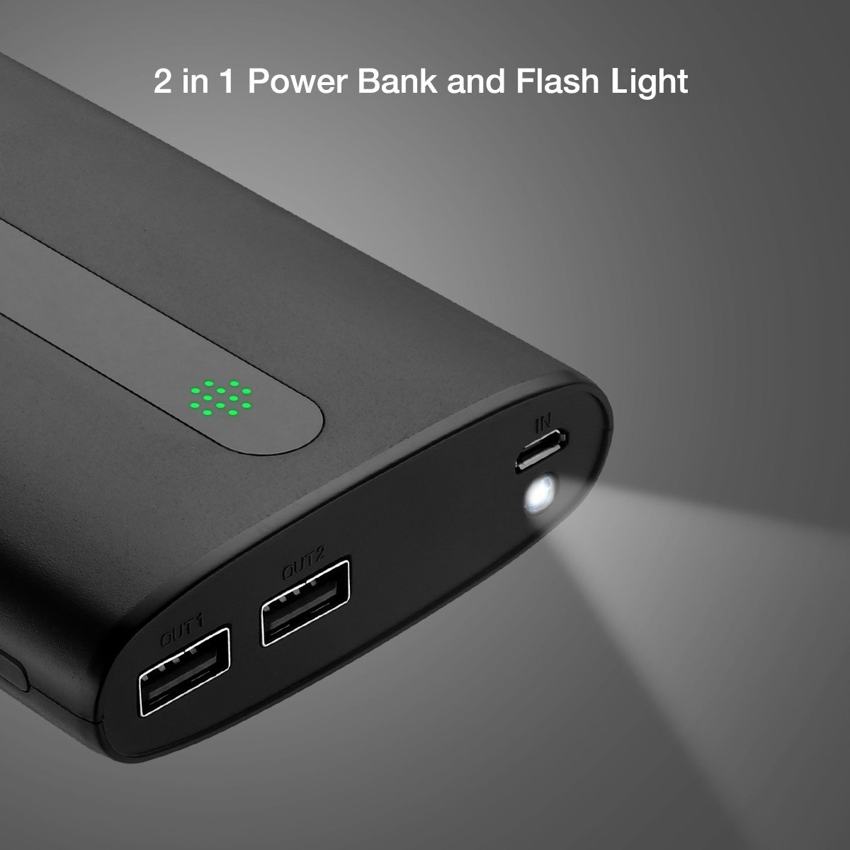 Aibocn Portable Phone Charger 20000mAh Power Bank, External Battery with LED Lights and Dual Ports for iPhone, iPad, Android, Samsung Galaxy and Other Devices