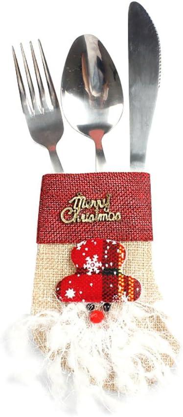 Decoracion Navidad Bolsas de Dulces Adornos Navideños, Cubiertos ...
