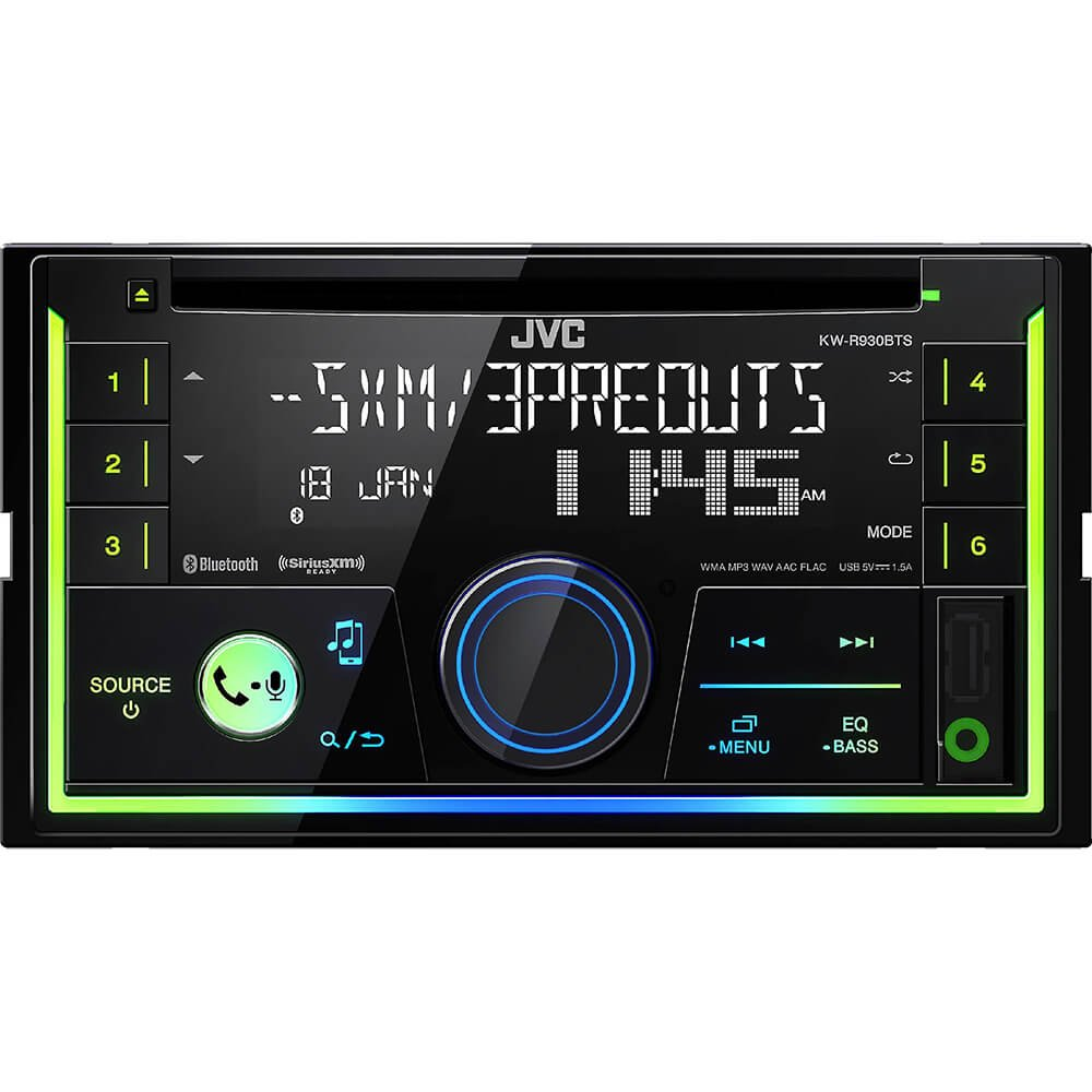 Jvc In Dash Cd Receiver Kw R930bt Car Electronics Amazoncom Stereo Install Kit Ford 500 06 2006 Radio Wiring