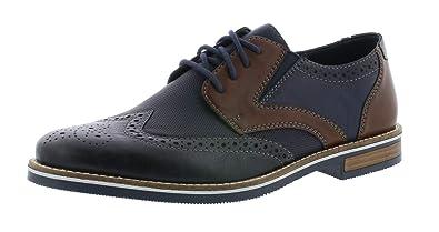 RIEKER HERREN BUSINESS Schuhe Schnürschuhe Anzugschuhe Gr.44 LEDER NEU Schwarz